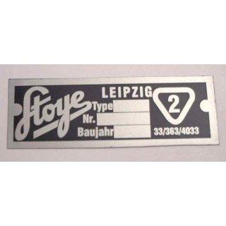 "Typenschild Seitenwagen ""STOYE/II""  AWO Sport"