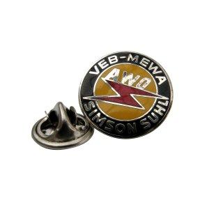 "Anstecknadel / Emblem / Pin ""VEB-MEWA AWO Simson Suhl"""