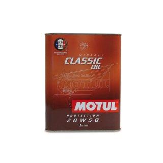 Motorenöl (4 Takt) MOTUL (SAE 20W-50) Classic Motor Oil (2,00 Liter)